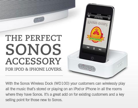 sonos wd100 wireless dock digital smart homes news events. Black Bedroom Furniture Sets. Home Design Ideas